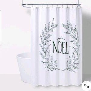 Joyeux Noel Shower Curtain Green/White